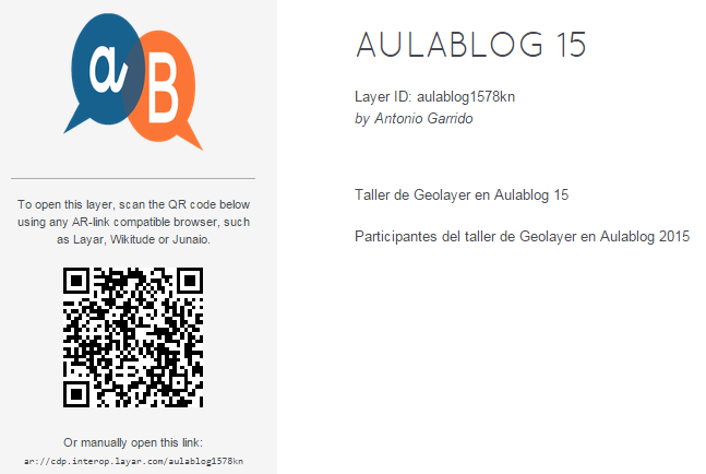 Geo Layer  Aulablog 15   Layar